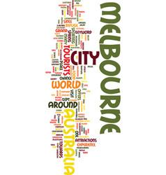 Melbourne australia text background word cloud vector