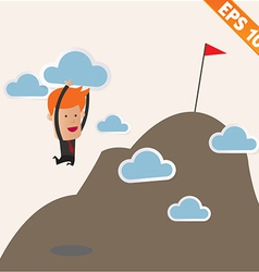 Business man carry cloud to the top - - eps1 vector
