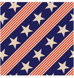 seamless patriotic usa stars background vector image