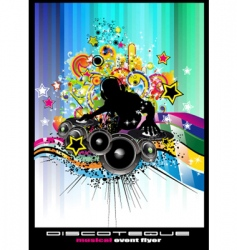 disco poster vector image