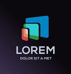 Computer laptop tablet phone logo icon design vector image