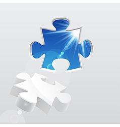 3d puzzle vector