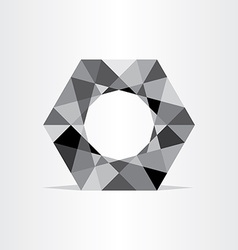 Abstract polygon grayscale geometric background vector