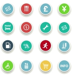 Set of round icons information vector