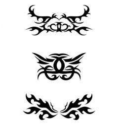 Tribal tattoo elements vector