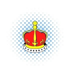 British crown icon comics style vector