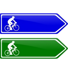 Cycle line direction signboard vector