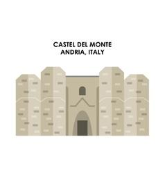Castel de monte icon italy culture design vector