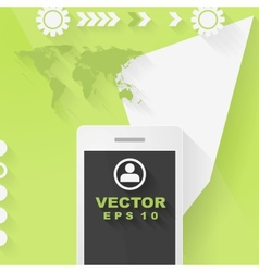 Abstract concept flat tech design with mobile vector image