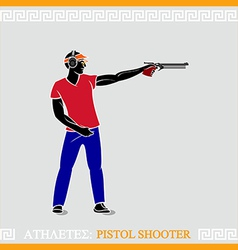 Athlete Pistol shooter vector image