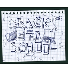 Back to school test book 02 a vector