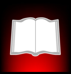 book style on red vector image