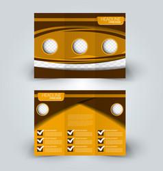 brochure mock up design template tri-fold vector image