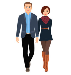 business casual fashion couple vector image vector image