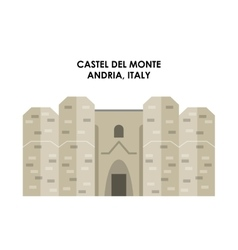 Castel de monte icon italy culture design vector