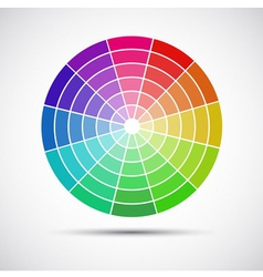 Color round palette on gray background vector