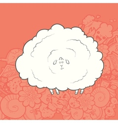 Cute Hand Drawn Sheep vector image