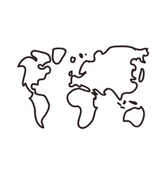 Earth continents doodle vector