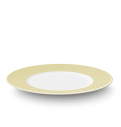 empty plate with ivory-colored design isolated vector image