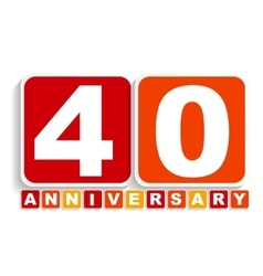 Forty 40 years anniversary label sign for your vector