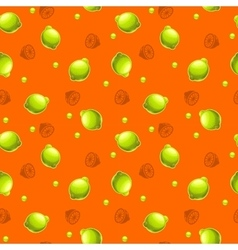 Funny seamless pattern with fresh lemons vector image