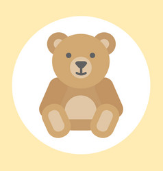 Gift toy teddy bear icon baby cartoon character vector