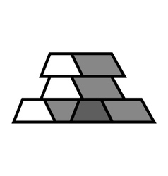 Gold bar block vector