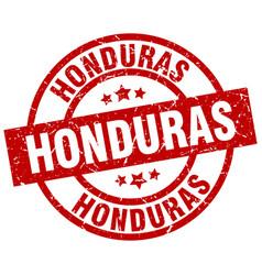 Honduras red round grunge stamp vector
