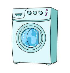 Household washing machine dry cleaning single vector