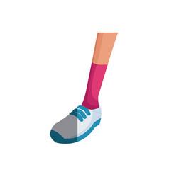 Human leg sport shoe fitness image vector