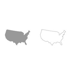 map of america it is icon vector image