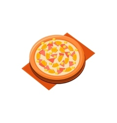 Pineapple ham pizza vector