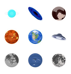 planets of the solar system cosmic objects vector image vector image