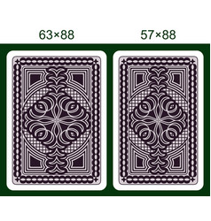 Playing card back side vector