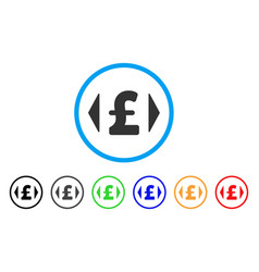 Regulate pound price rounded icon vector