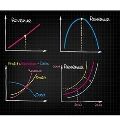 Revenue income chart vector