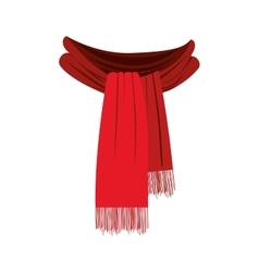 scarf with fringe icon image vector image