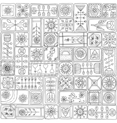 Seamless pattern with doodle frames vector image