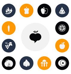 Set of 13 editable dessert icons includes symbols vector