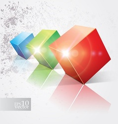 Shiny cubes vector image