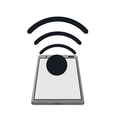 Smartphone connected wifi internet vector