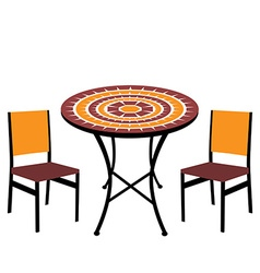 Table and chairs vector