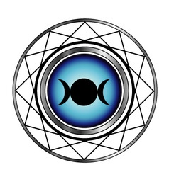 Triple goddess moon symbol- Wiccan symbol vector image vector image