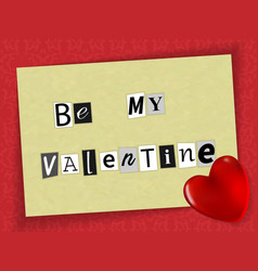 valentine of newspaper clippings a magnet vector image vector image