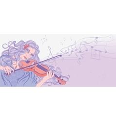 Violinist vector
