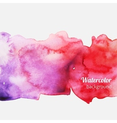 Watercolor splatter pink background vector image
