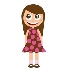 Little kid cute character vector