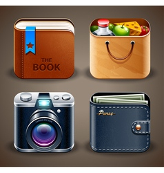 High detailed apps icons vector