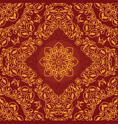 decorative rosette arabesque seamless pattern vector image