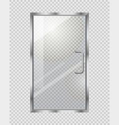 transparent door on grey checkered background vector image